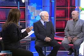 Con Patricia Villegas y Luis Britto García, en Telesur, enero de 2013