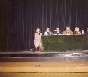 Presentación de Crítica. Teatro IFT, Buenos Aires, 8 de octubre de 1991